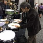 Our friend David Collier was admiring our snare drum lineup!