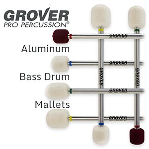 Grover Pro Aluminum Bass Drum Mallets Now Available!